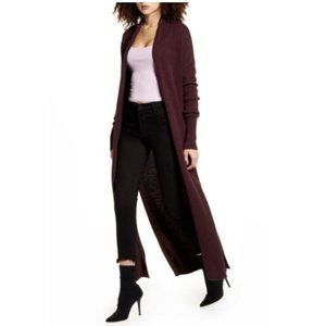 NWT Nordstrom LEITH Longline Open Cardigan XL / 16